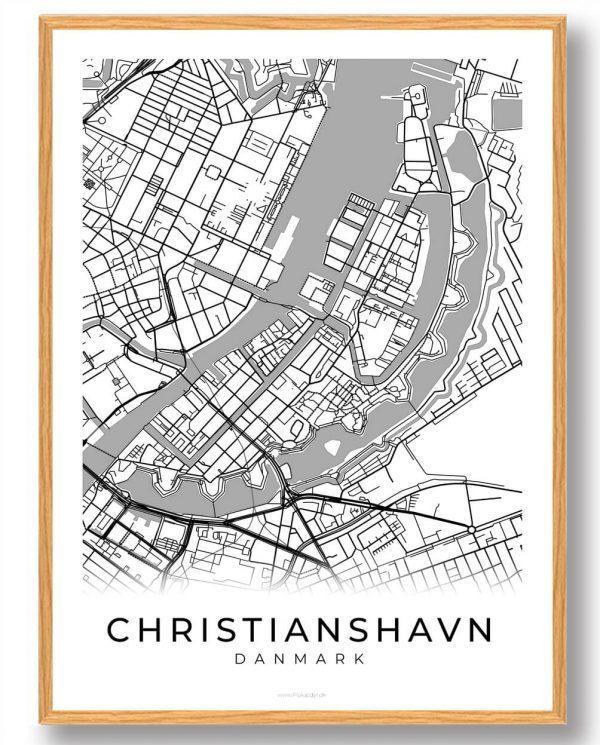 Christianshavn plakat - hvid