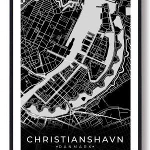 Christianshavn plakat - sort