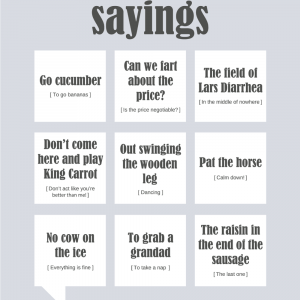 Danish Sayings plakat