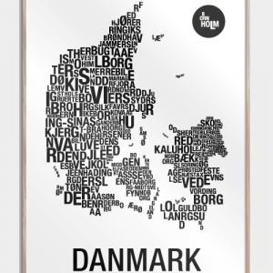 Danmark plakat - By plakat