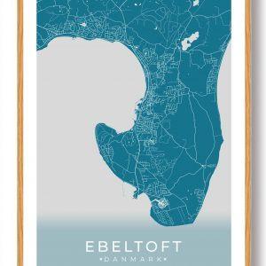 Ebeltoft plakat - blå