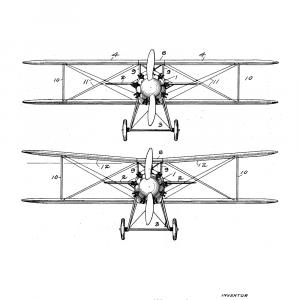 Fly plakat - Original patent tegning