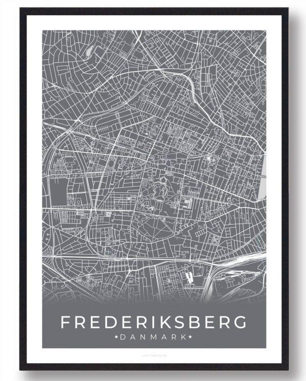 Frederiksberg plakat - grå