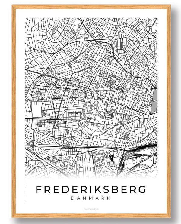 Frederiksberg plakat - hvid