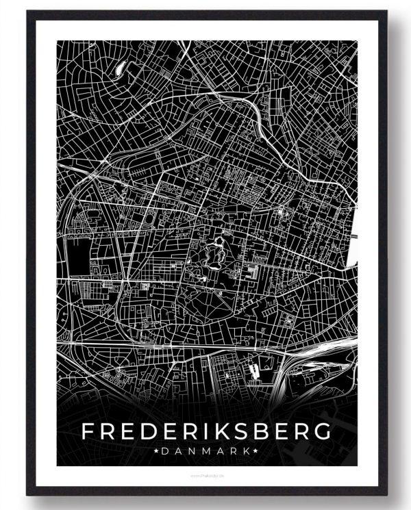 Frederiksberg plakat - sort