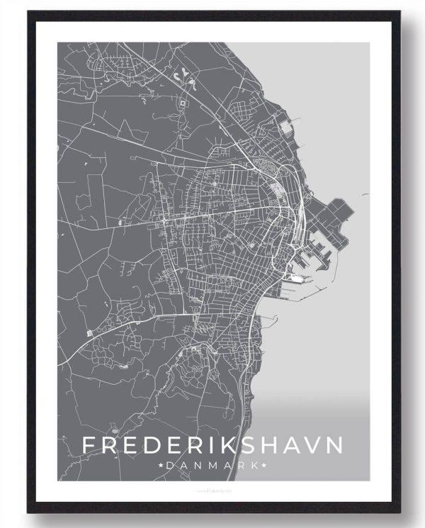 Frederikshavn plakat - grå