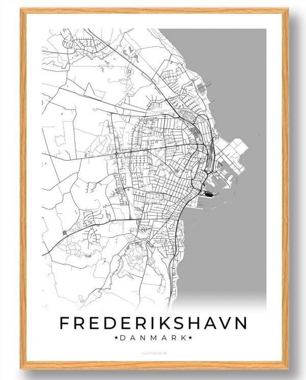 Frederikshavn plakat - hvid