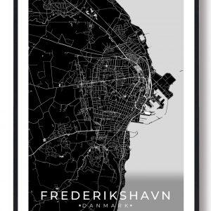 Frederikshavn plakat - sort