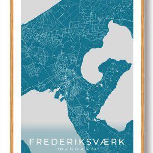 Frederiksværk plakat - blå
