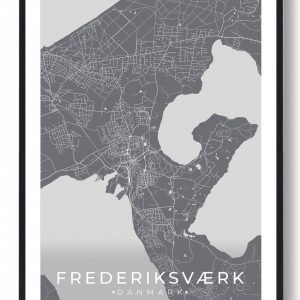 Frederiksværk plakat - grå