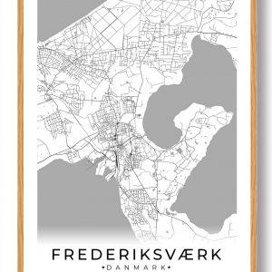 Frederiksværk plakat - hvid