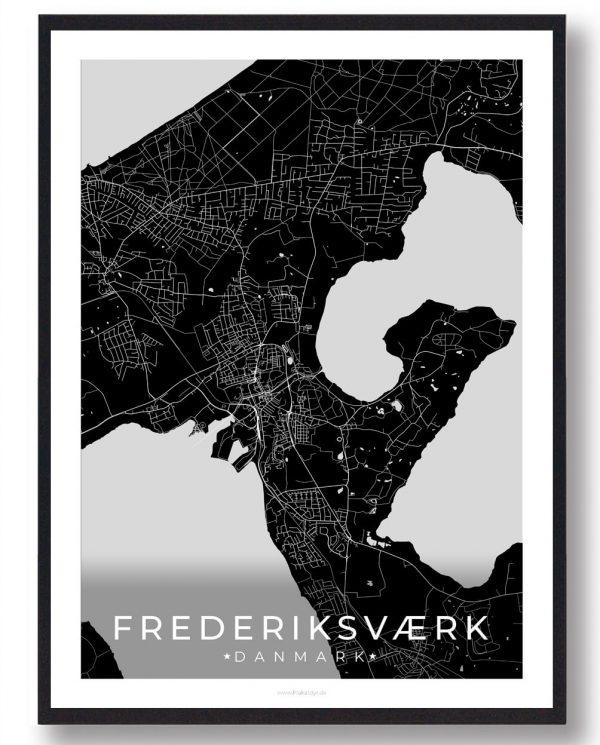 Frederiksværk plakat - sort