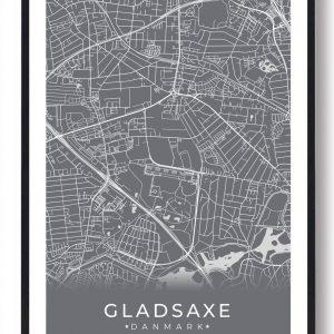 Gladsaxe plakat - grå