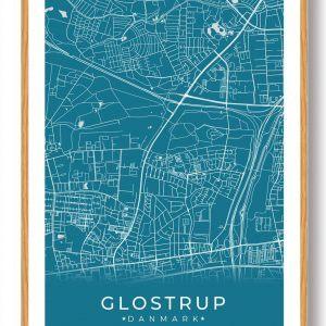 Glostrup plakat - blå