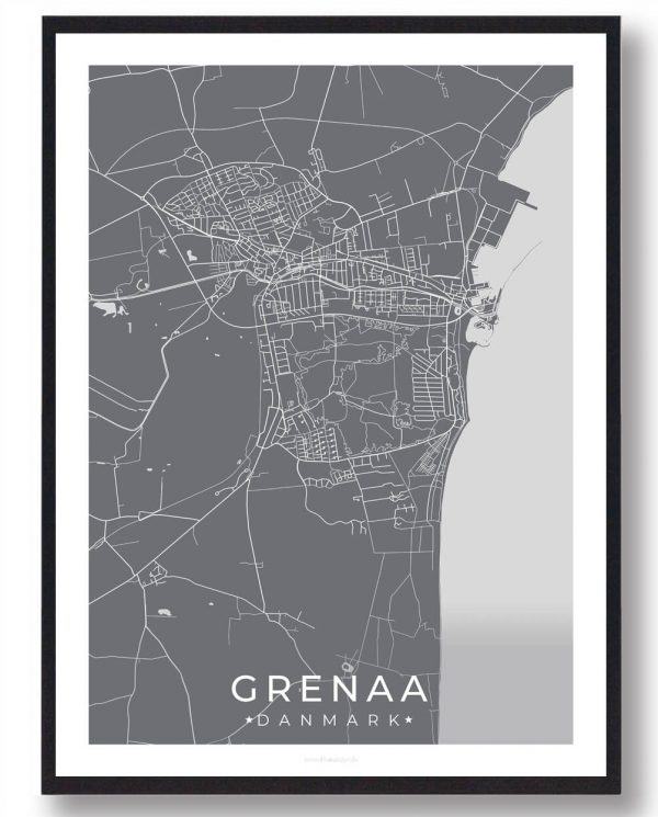 Grenaa plakat - grå