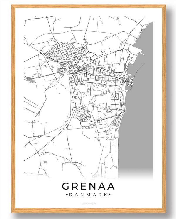 Grenaa plakat - hvid