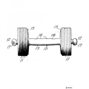 Håndvægt plakat - Original patent tegning