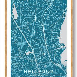 Hellerup plakat - blå