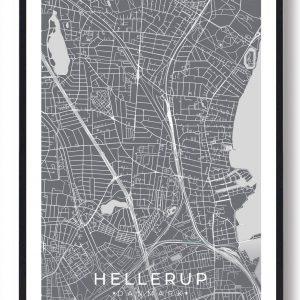 Hellerup plakat - grå