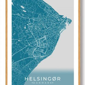 Helsingør plakat - blå