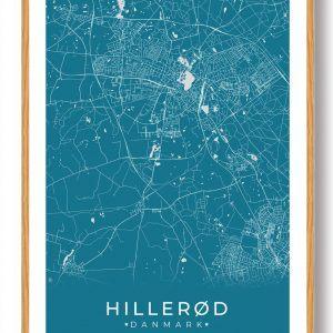 Hillerød plakat - blå