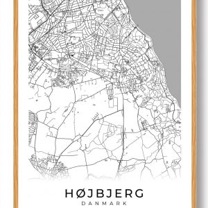 Højbjerg plakat - hvid