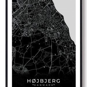Højbjerg plakat - sort