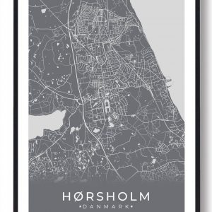 Hørsholm plakat - grå