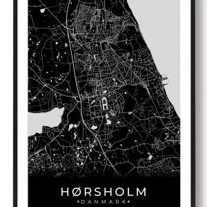 Hørsholm plakat - sort