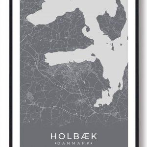 Holbæk plakat - grå