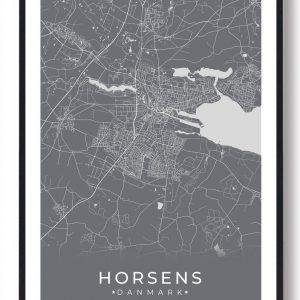 Horsens plakat - grå