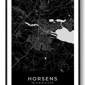 Horsens plakat - sort
