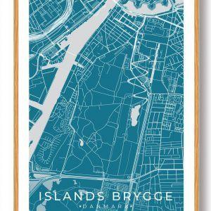 Islands Brygge plakat - blå