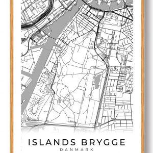 Islands Brygge plakat - hvid