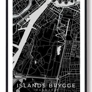 Islands Brygge plakat - sort