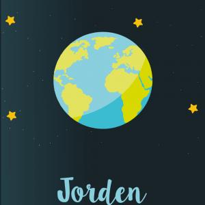 Jorden - Planet plakat til børn
