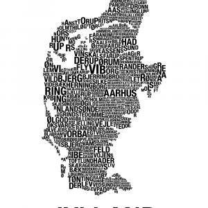 Jylland plakat - By plakat