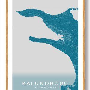 Kalundborg plakat - blå