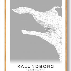 Kalundborg plakat - hvid