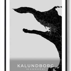 Kalundborg plakat - sort
