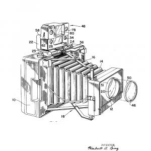 Kamera plakat - Original patent tegning