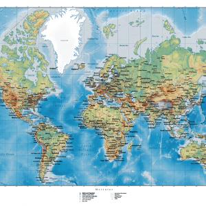 Klassisk verdenskort plakat