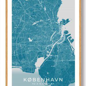 København plakat - blå