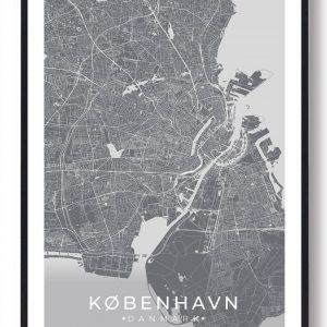 København plakat - grå