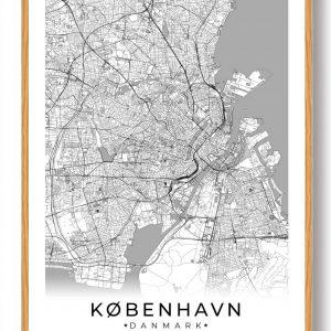 København plakat - hvid