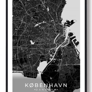 København plakat - sort