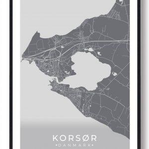 Korsør plakat - grå