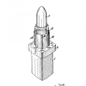 Læbestift plakat - Original patent tegning