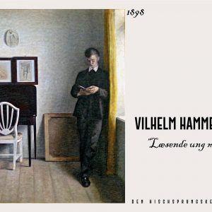 Læsende ung mand - Vilhelm Hammershøi Kunstplakat