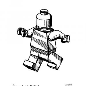 Legomand plakat - Original patent tegning